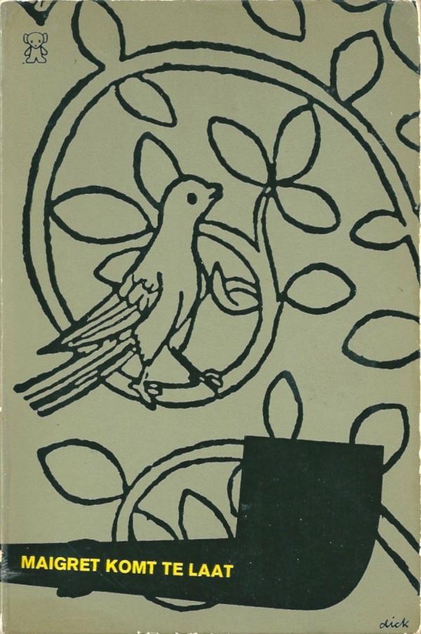 Maigret Komt te Laat (cover design Dick Bruna)