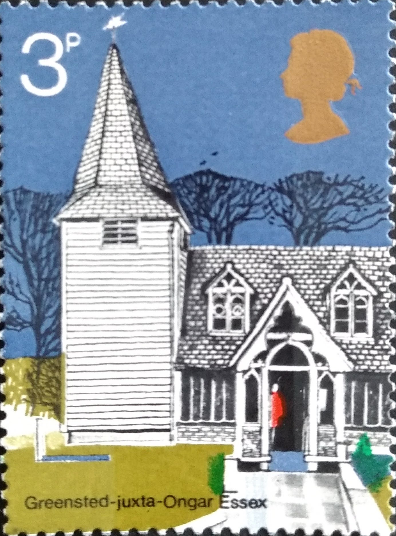 Stamps of English churches